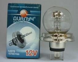 Лампа авто ДиаЛУЧ R2 12V 75/70W Дальний/ближний свет (#12275)