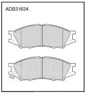Колодки тормозные передние Nippon ADB31634 дисковые (Nissan March,Cube)
