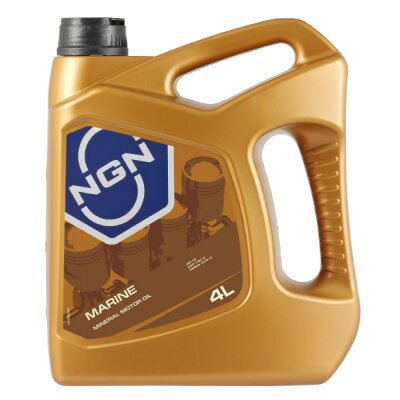 NGN MARINE (4л) Масло моторное минеральное  для 2-х тактных двиг
