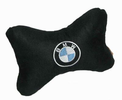 Подушка подголовник экокожа BMW