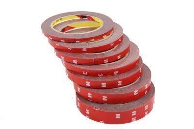 Скотч двусторонний М3 (12мм*3м) красный
