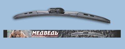 Щётка ст/оч Медведь ГИБРИД  крепл. под левый и правый руль MHW-21 (530мм)