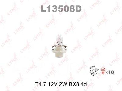 """Лампа авто """"LYNXauto"""" L13508D накаливания панели приборов T4. 7 12V 2W BX8.4d"""