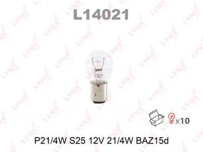"Лампа авто ""LYNXauto"" L14021 P21/4W 12V BAZ15D"