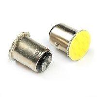 Лампа Луч светод 12V (21/5w) белая BAY15d (2 конт) COB диод (сплош заливка) (габариты, стоп-сигнал)