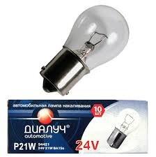Лампа авто ДиаЛУЧ P21W 24V 21W BA15s Стоп/Поворот/Задний ход (#94421)