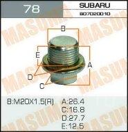 Болт Masuma маслосливной Ms.б_78 КПП Subaru 20*1,5 мм