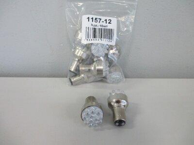 Лампа Луч светод 12V (21/5w) белая BAY15d (2конт) 22 SMD диодов (габариты, стоп-сигнал)