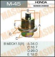 Болт Masuma маслосливочный M_45 Honda 20*1,5 мм
