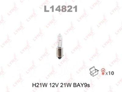 """Лампа авто """"LYNXauto"""" L14821 H21W 12V BAY9S"""