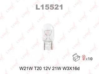 """Лампа авто """"LYNXauto"""" L15521 W21W 12V W3X16D"""