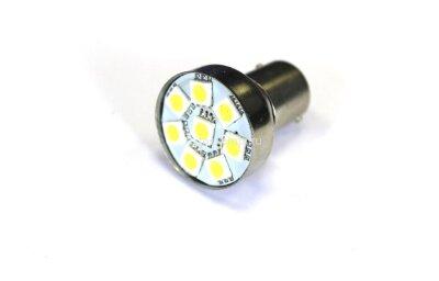 Лампа Луч светод 12V (21W) белая BA15s (1конт) 8SMD диодов (поворот, стоп-сигнал)