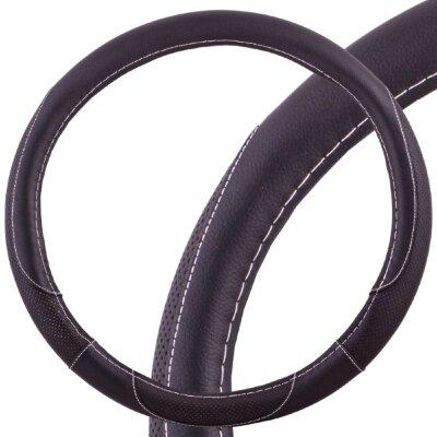 Оплётка руля SKYWAY Art-4 М экокожа, черная