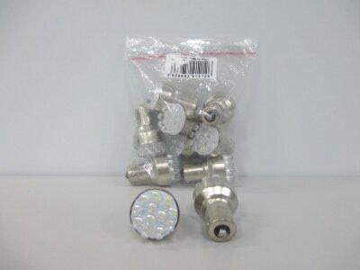 Лампа Луч светод 12V (21W) белая BA15s (1конт), 12 диодов (поворот, стоп-сигнал)
