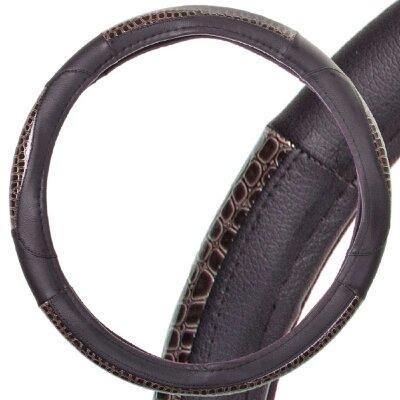 Оплётка руля SKYWAY Luxury-4 М экокожа, черная