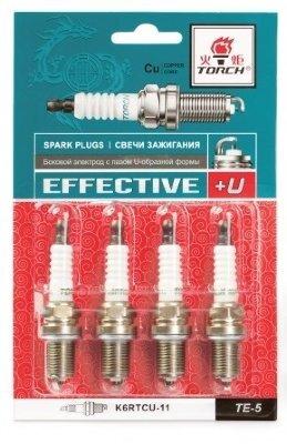 Свечи зажигания ДВС Torch  TE-5 K6RTCU-11  4pcs/блистер (4штуки в упаковке)