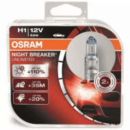 "Лампа авто ""Osram"" H1 12V 55W  P14.5s NIGHT BREKER UNLIMITED+110% больше света 64150NBU-HCB"