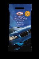 AD1001 Салфетки для очистки стекол, влажные, автомобильные (40шт)