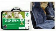 Накидка на сидение Green Star Premium - Натуральная овчина короткий ворс (серая) 150*55см