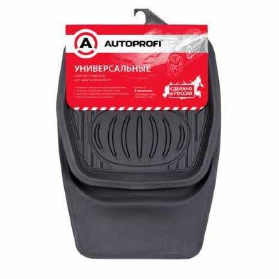Коврик салона Autoprofi унив. морозостойкие, ванночка к-т, 4пр  черный 4шт/упак (RUS-105 BK)