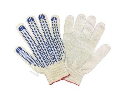 Перчатки 10 класс (5)   ХБ с ПВХ напылением Белые