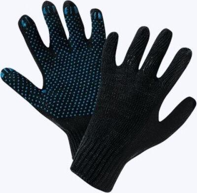 Перчатки 10 класс (5)   ХБ с ПВХ напылением Черные