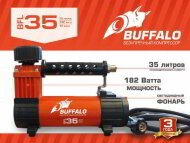 Компрессор BUFFALO BFL-35 автомобильный с LED-фонарем