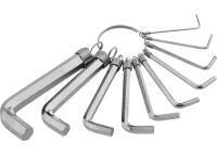 Набор ключей шестигранных Qtools (10 шт) на кольце