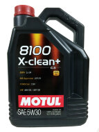 Motul Авто 8100 X-Clean+ 5W-30 (5л) Масло моторное