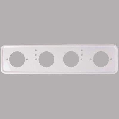 Рамка для номера металл. под болт белая с порошковым покрытием б/н  SKYWAY
