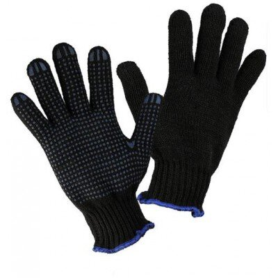 Перчатки 7,5 класс (6) П/Ш черные с ПВХ