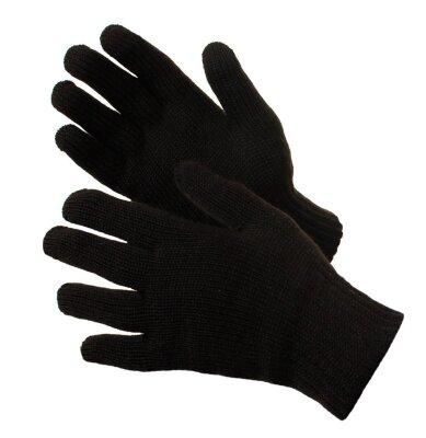 Перчатки 7,5 класс (6) П/Ш черные ХБ