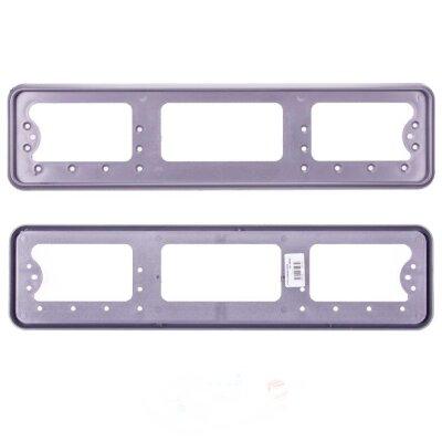 Рамка для номера пластмассовая под болт серая без надписи