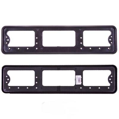 Рамка для номера пластмассовая под болт черная без надписи