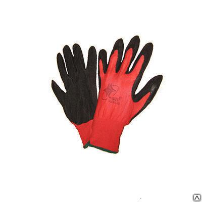 Перчатки нейлоновые с нитриловым обливом Люкс