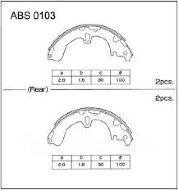 Колодки тормозные задние Nippon ABS0103 барабанные (Toyota)