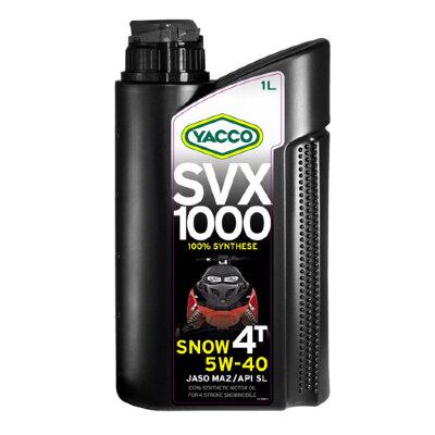 YACCO SVX 1000 SNOW 4T 5W-40 (1л) Масло моторное для снегоходов