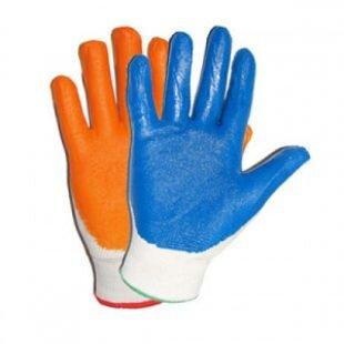 Перчатки нейлоновые с нитриловым обливом Супер Люкс Оранжевый