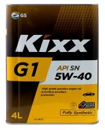 Kixx G1 5W-40 (4л) SN/CF Масло моторное синтетическое