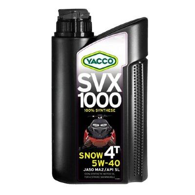YACCO SVX 1000 SNOW 4T 5W-40 (4л) Масло моторное для снегоходов