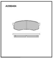 Колодки тормозные задние Nippon ADB0404 дисковые (Toyota Land Cruise)