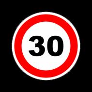 """Наклейка """"Ограничитель скорости"""" """"30 км/ч"""" (146мм) круг. A3001"""