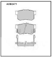 Колодки тормозные задние Nippon ADB3471 дисковые (Daewoo,Honda Accord,Rover Group)
