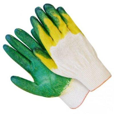 Перчатки Х/Б с 2-ым латексным обливом