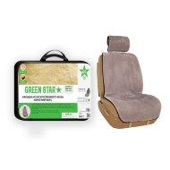Накидка на сидение Green Star - Искусственный мех (Серая) FUR-7873FSH