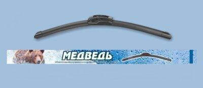 Щётка ст/оч (бескаркасная) Медведь симм. спойлер SUW-15 (380mm) Графитовое покрытие