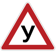"""Наклейка """"У"""" (200*200*200) треугольная"""