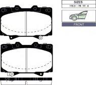 Колодки тормозные задние Nippon ADB3942 дисковые (Toyota Corolla ZZE12#,CDE120,12.01-)