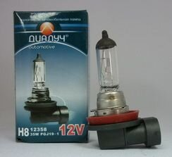 Лампа авто ДиаЛУЧ H8W 12V 35W PGJ19-1 Головного света (#12358)