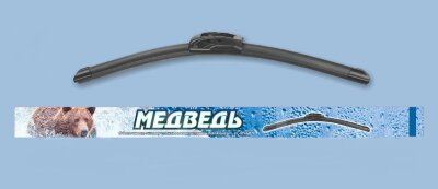 Щётка ст/оч (бескаркасная) Медведь симм. спойлер SUW-24 (610mm) Графитовое покрытие